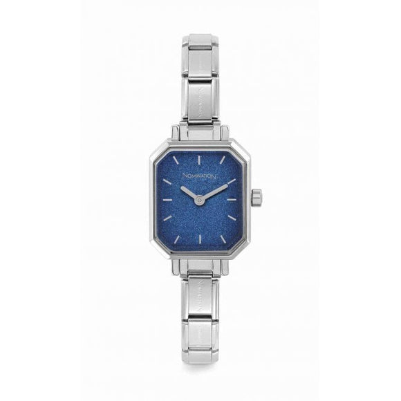 Nomination Classic Paris Watch Rectangular Blue Glitter Dial