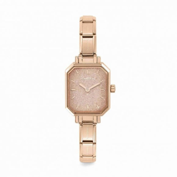 Nomination Classic Paris Watch Rectangular Rose Glitter Dial Rose Gold