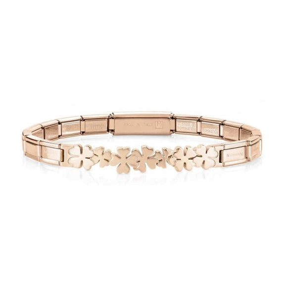 Nomination Rose Gold Clovers Trendsetter Bracelet