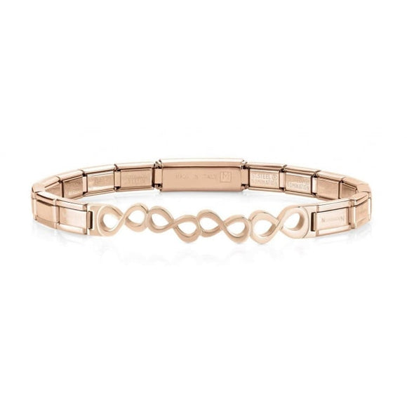 Nomination Rose Gold Infinity Trendsetter Bracelet
