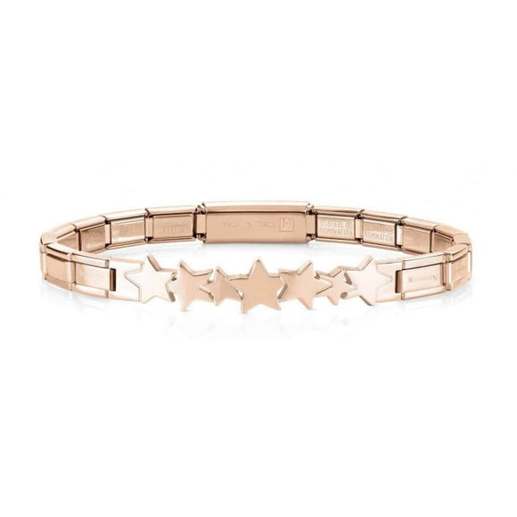 Nomination Rose Gold Stars Trendsetter Bracelet