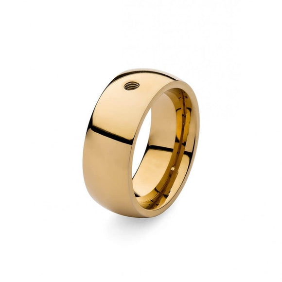 Qudo Wide Plain Ring Gold