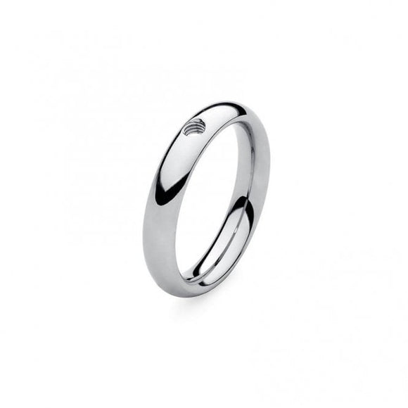 Qudo Slim Stainless Steel Ring