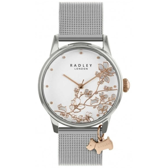 Radley Linear Flower Watch With Rose Gold Detail