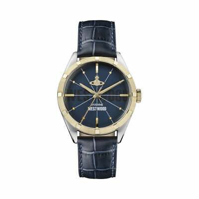 Vivienne Westwood Conduit Men's Watch In Navy And Gold, VV192NVNV