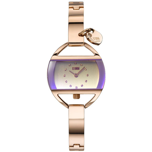 Storm Temptress Charm Violet Rose Gold Watch