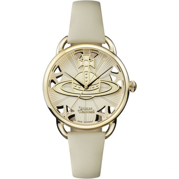 Vivienne Westwood Leadenhall Cream and Gold Watch VV163CMCM
