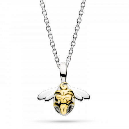 Kit Heath Silver Blossom Mini Bumblebee Necklace