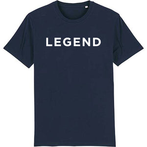 Legend classic tee shirt in french navy.