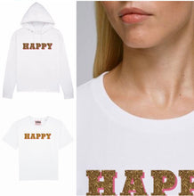Load image into Gallery viewer, New Happy Tee Shirt in Classic White