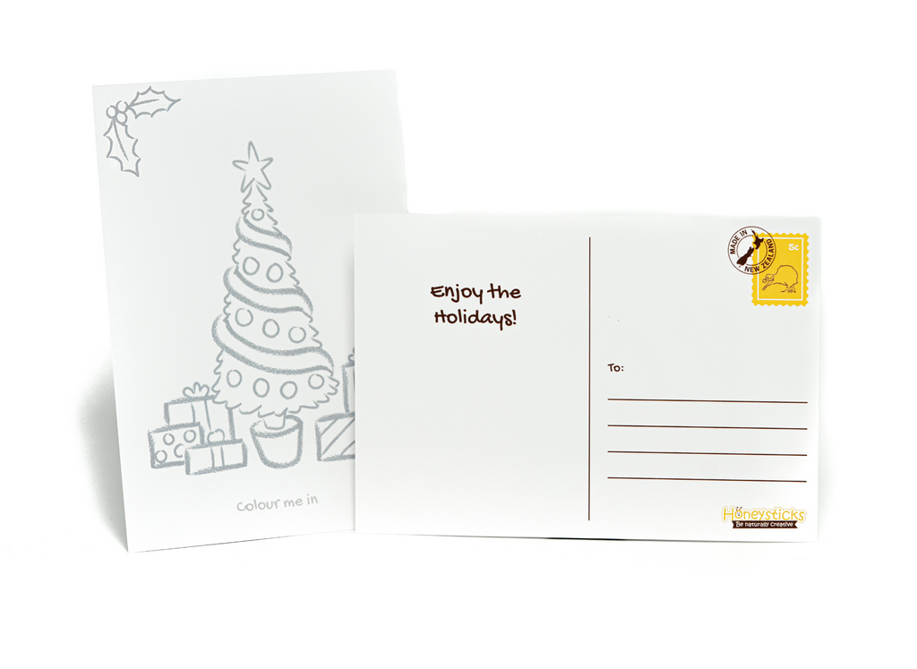 Limited Edition 6pk Coloring-in Festive Postcards for kids