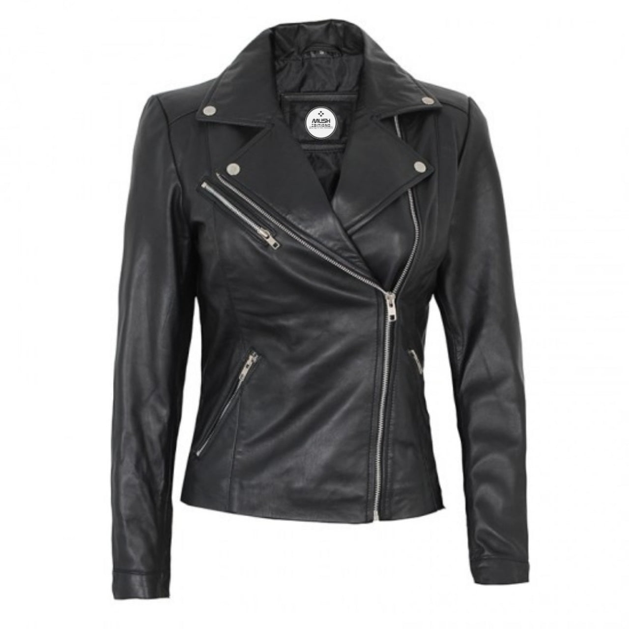 Black Real Leather Jacket For Women - Leather Jacket