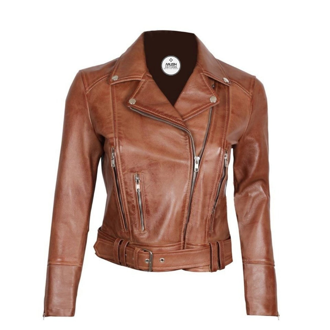 Light Brown Leather Jacket Women - Leather Jacket