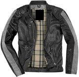 Smart And Stylish Motocycle Leather Jacket For Men In Black