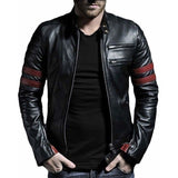 Biker Genuine Leather Jacket - Leather Jacket