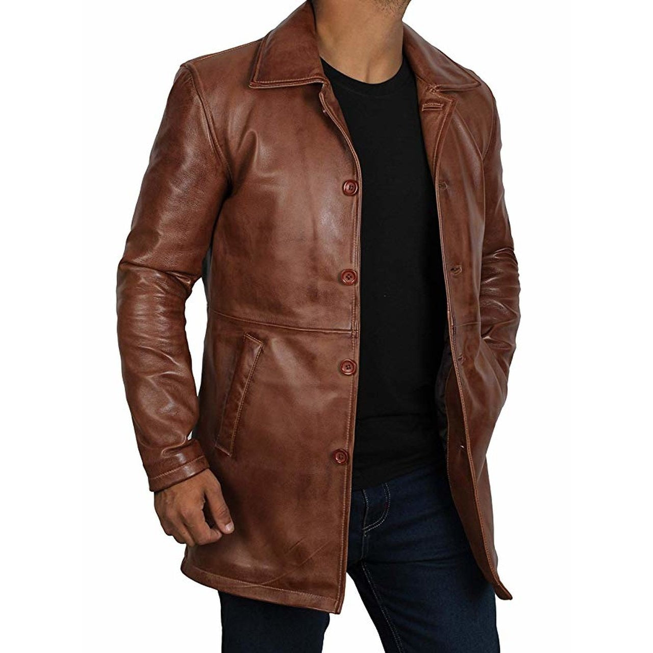 Distressed Leather Jacket | Distressed Leather Jacket Mens | Mens Jacket