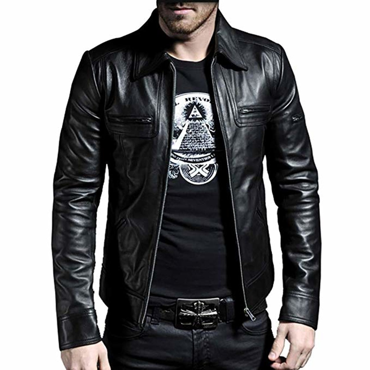 Black Leather Jacket for Men's - Leather Jacket