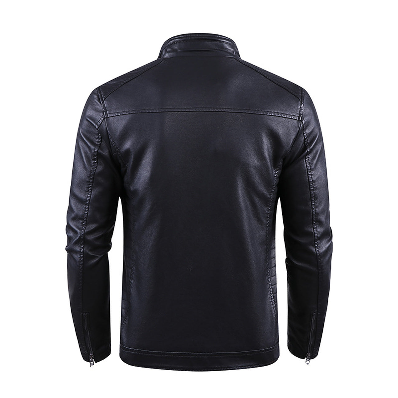 American Biker Style Slim Fit Genuine Leather Jacket For Men