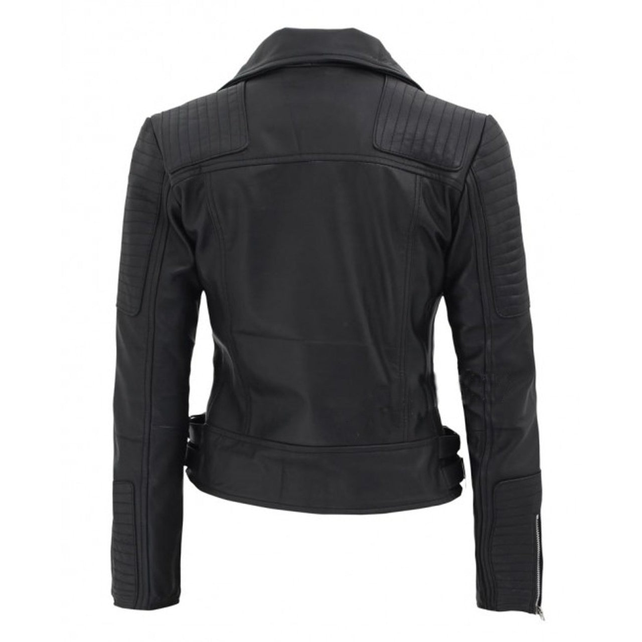 Black Leather Moto Jacket For Women - Leather Jacket