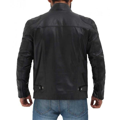 Black Real Leather Jacket For Men - Leather Jacket