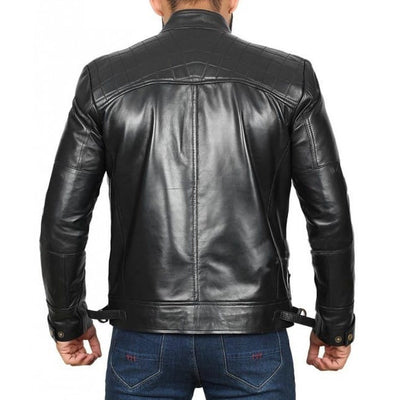Black Stylish Genuine Leather Jacket for Men - Leather Jacket