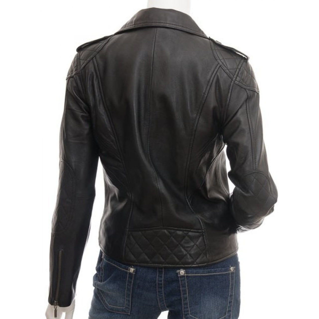 Black Stylish Leather Jacket for Women - Leather Jacket