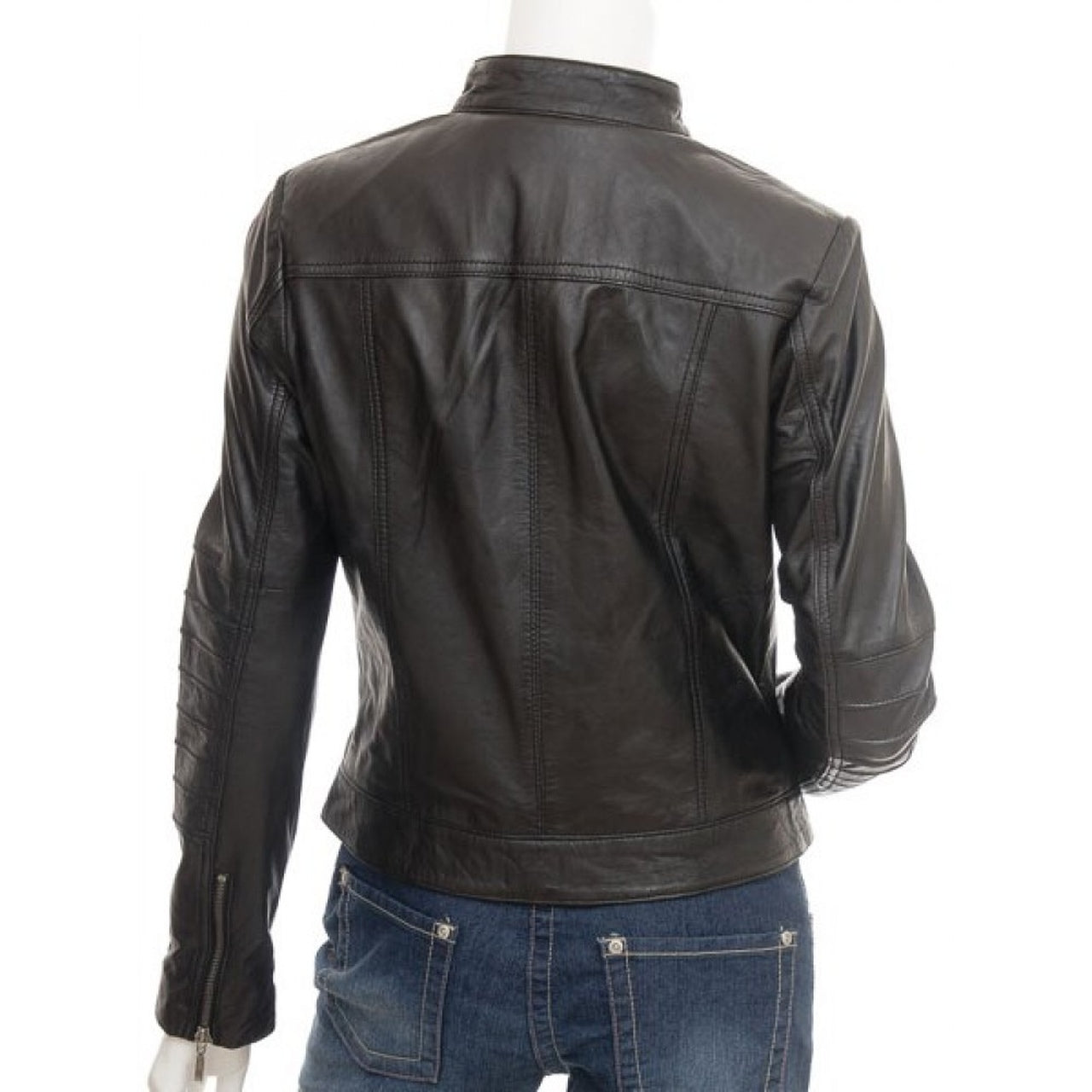 Dark Brown Stylish Leather Jacket for Women - Leather Jacket