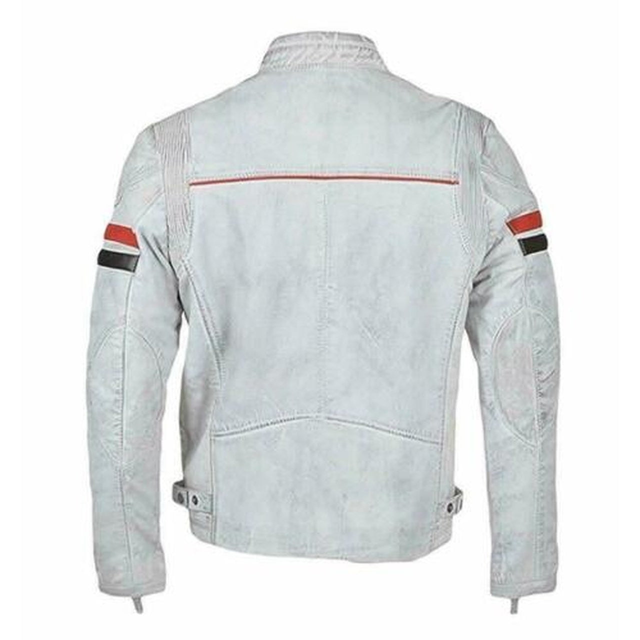 Mens Biker Cafe Leather Jacket