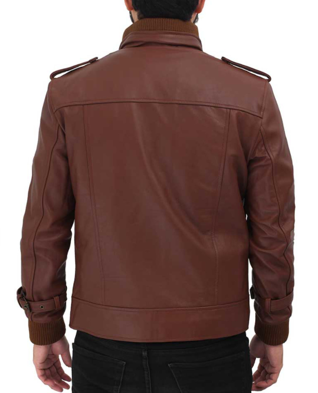 Men Slim Fit Sheep Skin Geniune leather Jacket