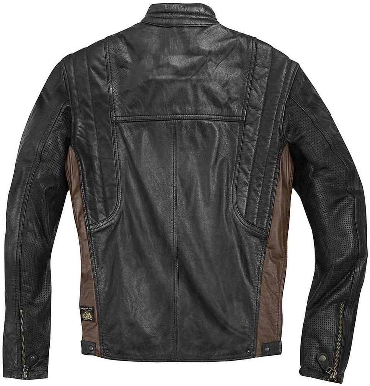 Smart And Stylish Motocycle Leather Jacket For Men In Brown