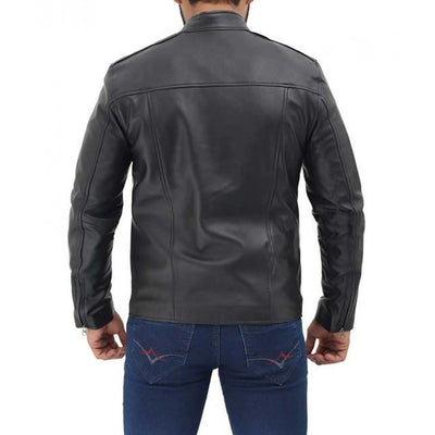 Black Genuine Leather Men Jacket - Leather Jacket