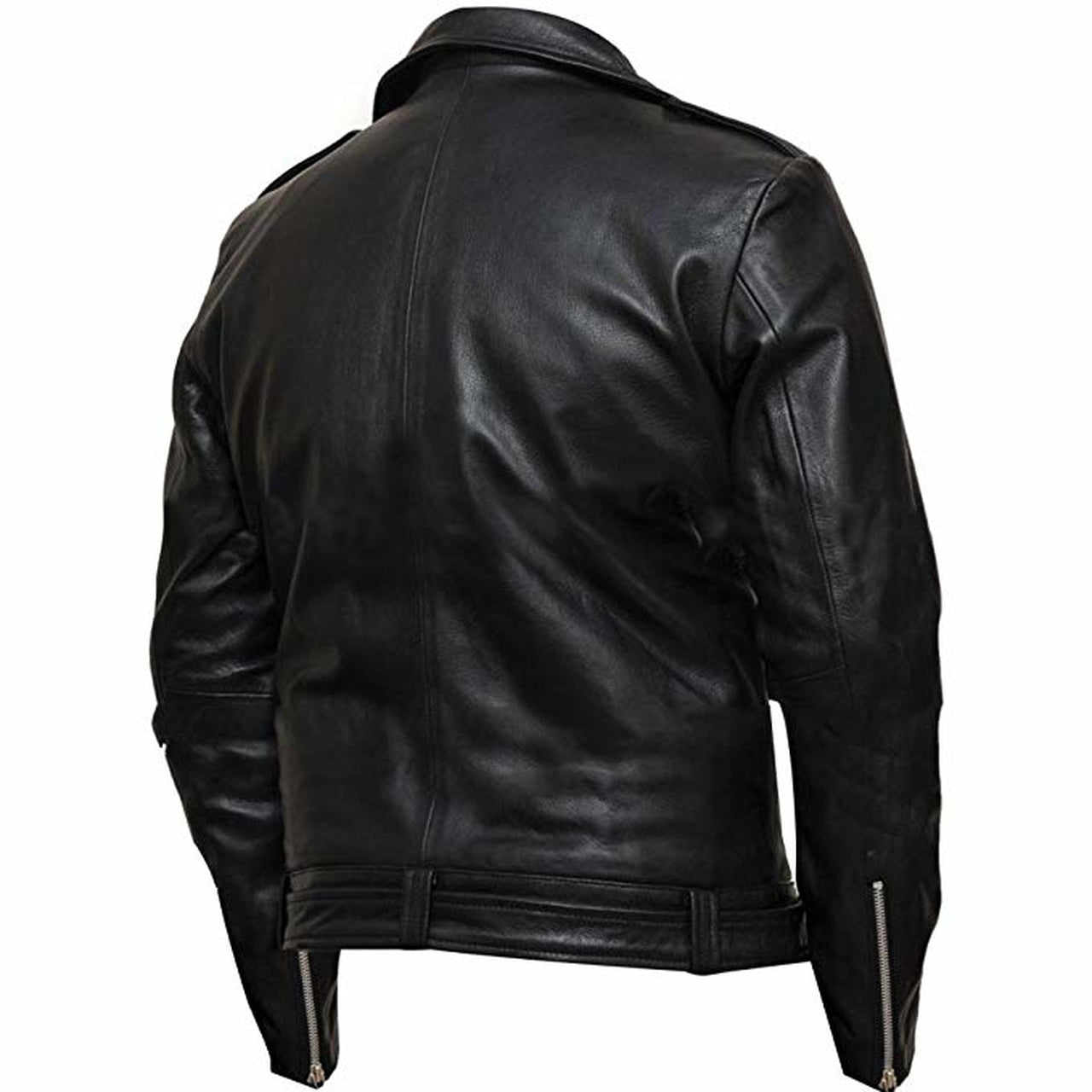 Walking Dead Black Biker Leather Motorcycle Jacket - Leather Jacket
