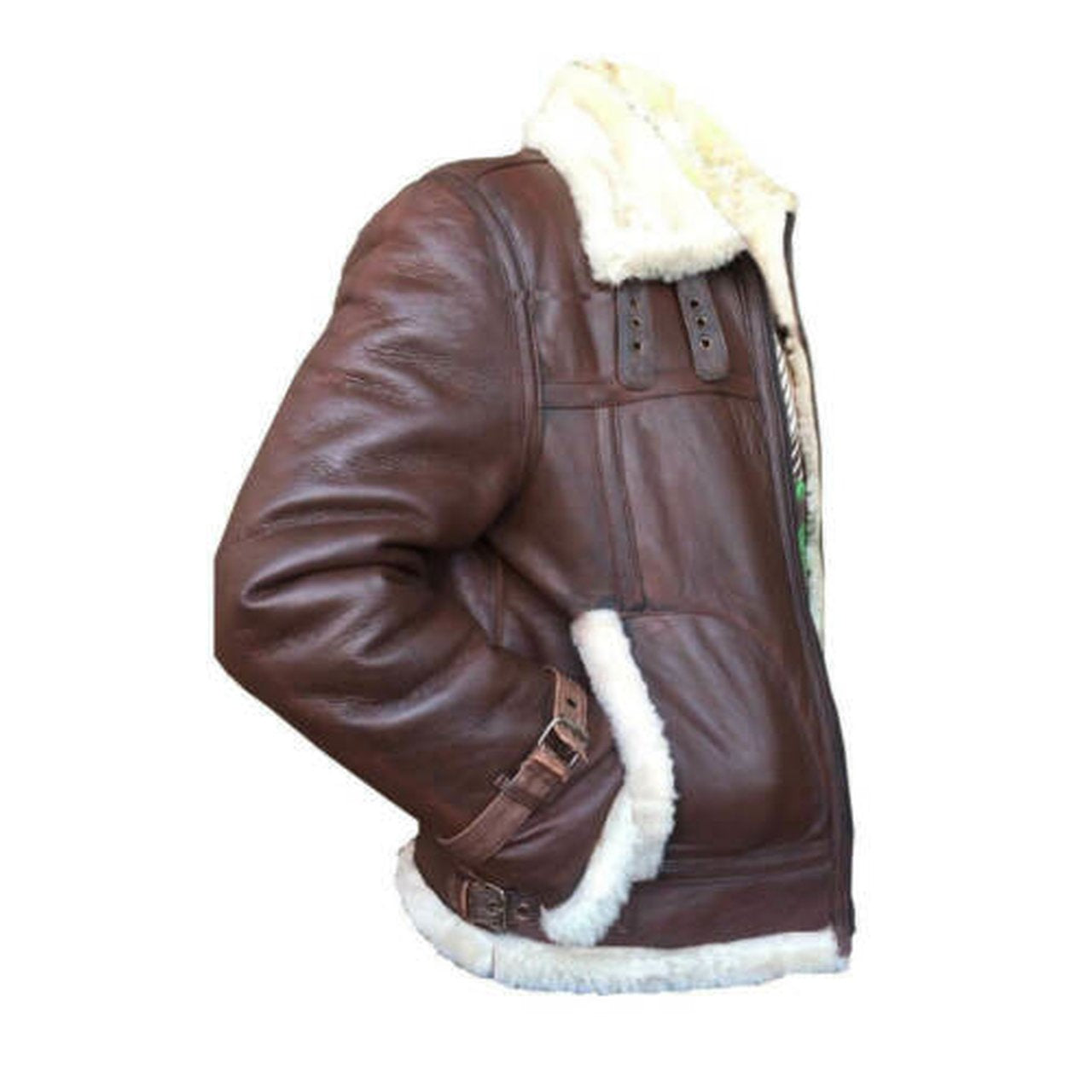 RAF Aviator Genuine Leather Jacket for Men Bomber Flight Sheep Skin