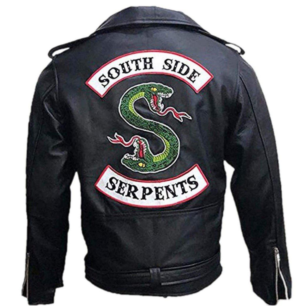 Southside Serpents Riverdale Men Black Slimfit Synthtic Leather Jacket - Leather Jacket