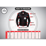 Stylish Black Leather Jacket with Red Stripes and Stars for Women - Women Leather Jacket - Leather Jacket