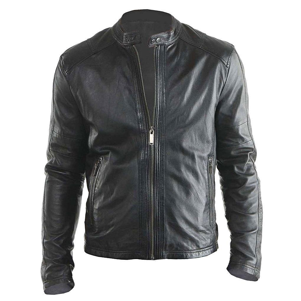 Hollywood Stylish Design New Biker Real Leather Jacket - Leather Jacket