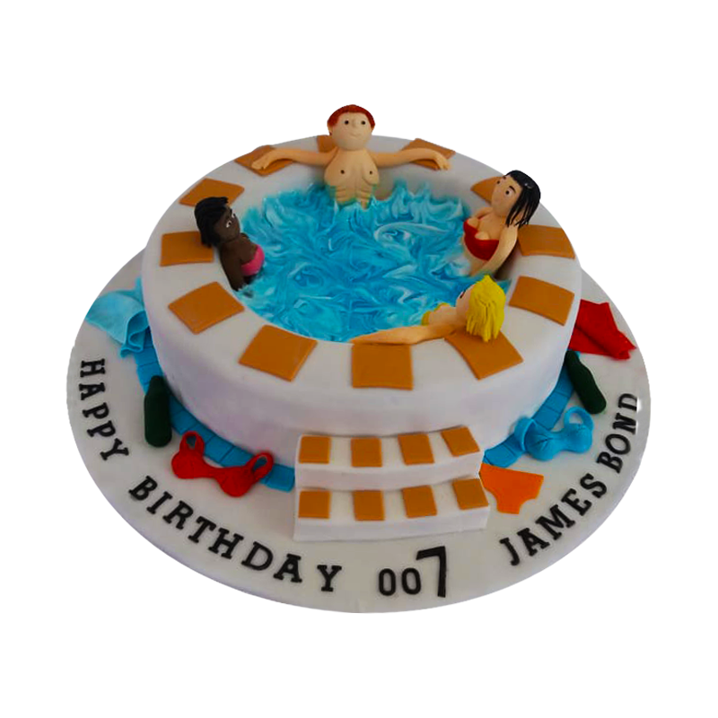 Bachelors Pool Party Cake