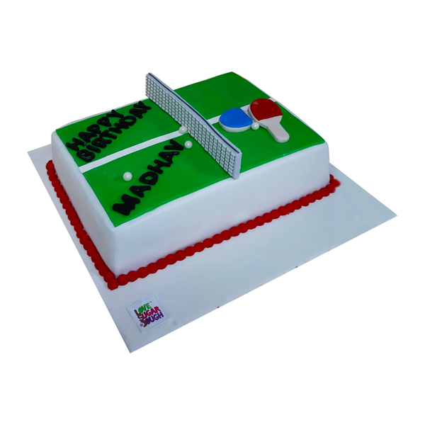 Badminton Field Shape Cake