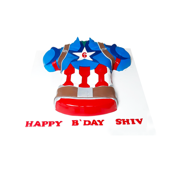 Captain America Shape Cake