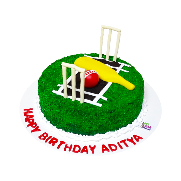 Cricket Field Shape Cake