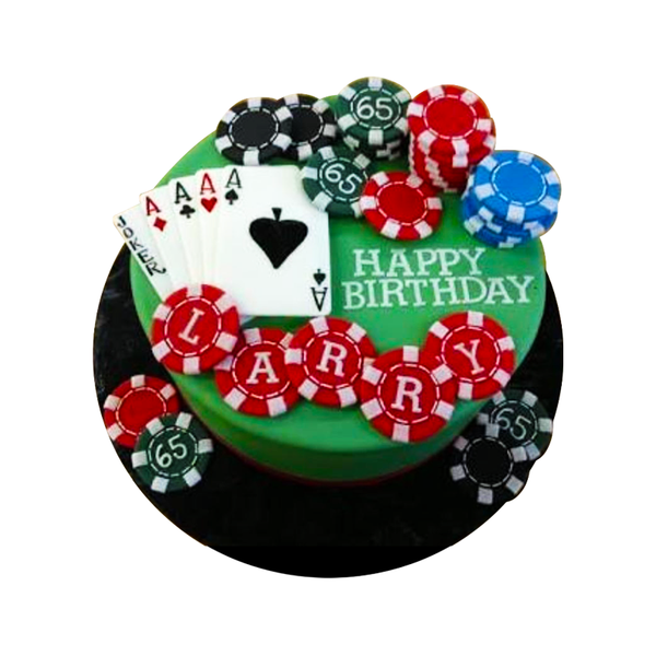 Poker Customised Cake