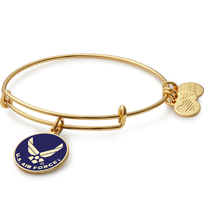 Alex & Ani Air Force Charm Bangle