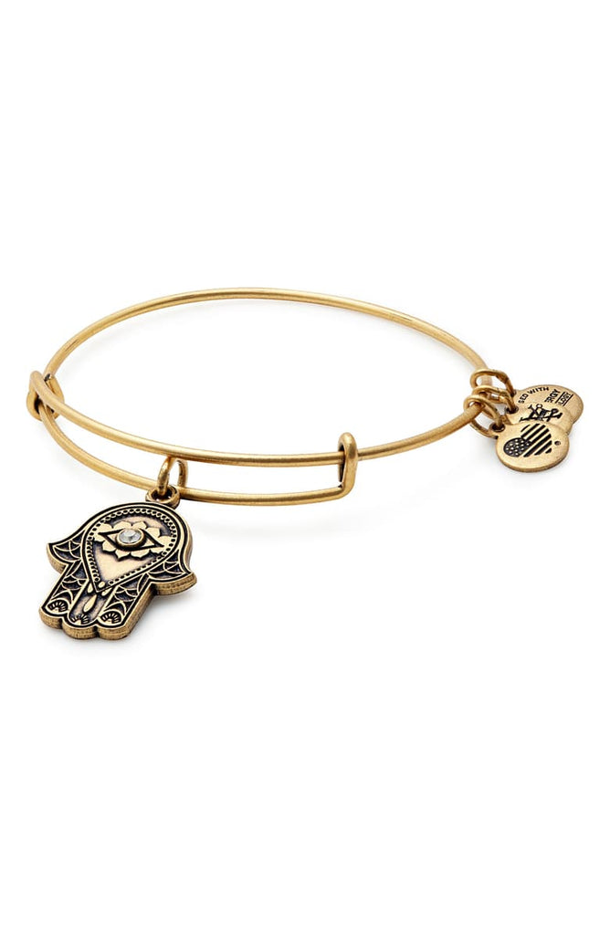 Alex & Ani Hand of Fatima Charm Bangle