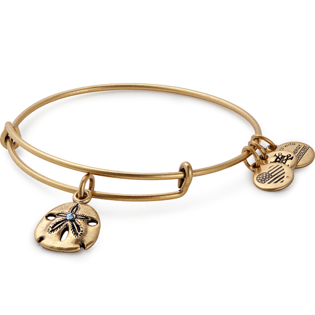 Alex & Ani Sand Dollar Charm Bangle
