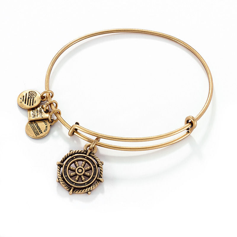 Alex & Ani Take The Wheel Charm Bangle
