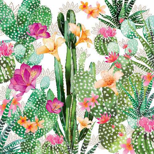 Cocktail Napkins Cactus Fancy