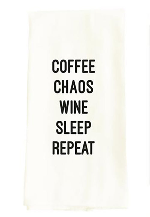 Coffee Chaos Dish Towel