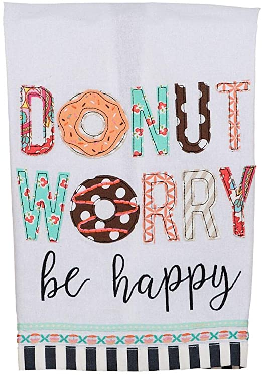 Donut Worry, Be Happy Dish Towel
