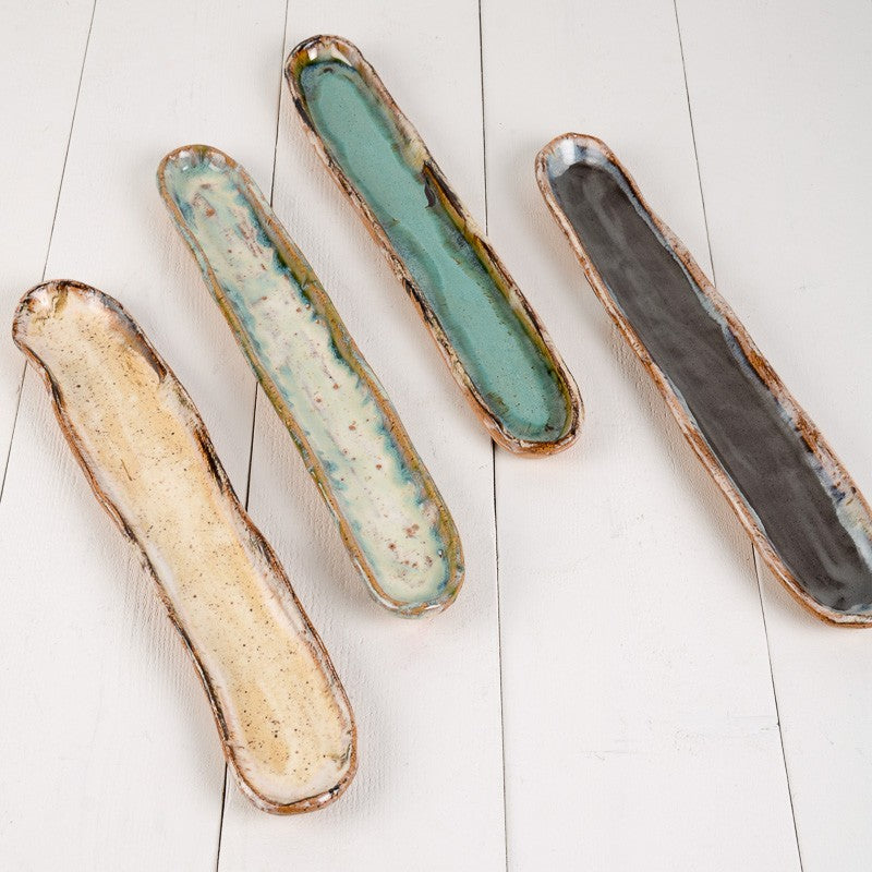 Etta B. Pottery Cracker Sleeve/Olive Tray
