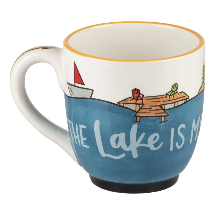 The Lake Is My Happy Place Mug